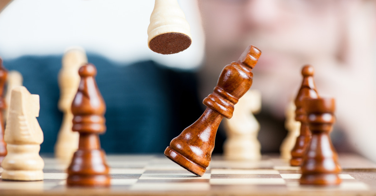 esthetische foto schaakbord